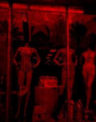 Night NOLA (*iheartgoats*) Tags: night red mannequin shop city urban digital montage nola artdigital
