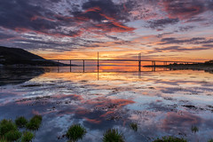 A Kessock Sunrise .. (Gordie Broon.) Tags: kessockbridge southkessock sunrise dawn reflections a9 scottishhighlands scotland schottland seascape beaulyfirth invernessfirth ecosse seestuck sea seaweed szkocja inverness escocia scozia invernessshire highlandcapital skyreflections hills caledonia summer 2017 paysagemarin gateway gordiebroonphotography high tide paisaje canon5dmklll canon1635f4l alba marina geotagged