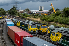 Southampton Freightliner Terminal Explored! (Coolcats100) Tags: southampton hampshire diesel freightliner 2017 july train wagons sky coolcats100 building canon 70d sigma explored explore railway locomotive trains rails rail class 70 66 08xxx 66xxx 66503 66562 66568 70003 70008 70010 containers container crane pylons