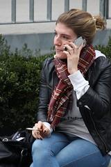 Perfect Clouds (if you insist) Tags: nicotine smoking smoker candid cigarette exhale eurosmoke enjoy female addict