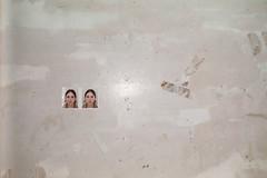 hospital memory (Anne-Sophie Landou) Tags: photobooth id selfie minimal wall texture hospital interior indoor film 35mm analog flash france