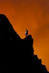 Volcano pose (BWHITE_PORTFOLIO) Tags: strobe offcameraflash lava lavaglow auckland newzealand nzl marum volcano expedition