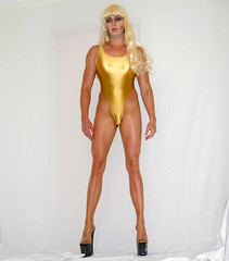 Trying to look like All That lol (queen.catch) Tags: catchqueenyoutube drag dragqueen tranny shemale lycra shiny nylon pantyhose pleasers platinos leotard thong heels wig makeup legsfordays femme ladyboy hips