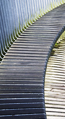 _MG_0730 Sit Awhile With Me [Explore] (Alisonashton1 Away to seek my fortune. Back soon!) Tags: curves slats metal bench pattern stripes stripey placetosit outdoors