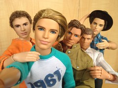 The Boys Are Back (honeysuckle jasmine) Tags: mattel ken doll barbie four divergent theo james max steel gi joe ryan