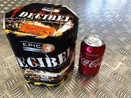 Decibel 19 Shot 1.3G Firework Cake