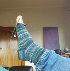 Almost toe time! (Snuva) Tags: knit sock socks knitting homemade arneandcarlos regia