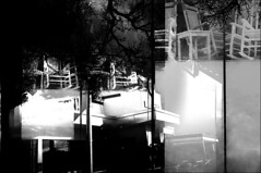 [ - MONSTERS, GHOSTS, AND THE ABYSS - ] (ǝlɐǝq ˙M ʍǝɥʇʇɐW) Tags: precipice abyss monsters gaze bw black white film lomo supersampler multipleexposure chaos ghosts thetexashillcountry thegazeoftheabyss haunted alone german philosophy nulldaten ubiquitousanddeeplyunsettlingcreepyrockingchairs emptyrockingchairs evil emptyness void
