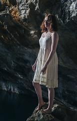 Cassie (Nathan.Donoghue) Tags: woman women redhead ginger cave nathandonoghue nathandonoghuephotography dress nipple nikond800 nikon d800