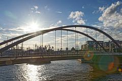 Hamburg Hafenbrücke (karlheinz klingbeil) Tags: hamburg city stadt brücke bridge sonne gegenlicht