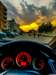 Cityscape sunset (Mohsan Raza Ali Baloch) Tags: islamabad pakistan mohsan mohsans raza ali car evening clouds