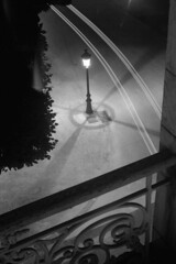Point de vue (Hommage à Brassaï) (Franck H) Tags: leica m3 leitz trix 4001600 kodak analog street rue noirblanc nb night streetlife d76 11 20° 13 25mm summarit 50mm exposure negatif longexposure long pause longue b schwarzweis