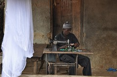 Village tailor in Sierra Leone