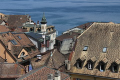 Rooftops and the Lake (asitrac) Tags: asitrac nyon vaud switzerland ch 15challengeswinner