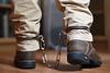 DSC_1144-1 (Chris A. Mitchell) Tags: dannerboots dannergritstone danner bondage hiatt hiattlegirons legirons cuffs bootcuffs