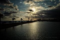Last Days Of Summer .. (Hazem Hafez) Tags: water sea coast beach lagoon shore sand trees dawn sunrise light sky clouds