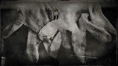 Digits-11466 (Poetic Medium) Tags: moldiv gloves stilllife blackandwhite snapseed kitcamghostbird hipstamatic ipod