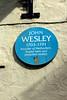 Alderney,  Braye  -  John Wesley was here (kestrel49) Tags: europe channelislands alderney aurigny bailiwickofguernsey britishcrowndependency braye brayestreet wesley johnwesley plaque blueplaque 17 2017 methodism methodist