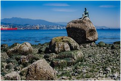 Girl in Wetsuit (RudyMareelPhotography) Tags: bristishcolumbia canada elekimredy girlinwetsuit northamerica stanleypark vancouver sculpture flickrclickx flickr ngc