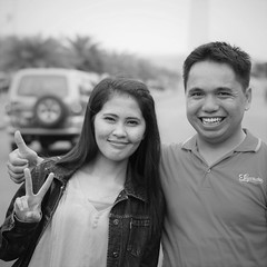 They Said Please (michael.veltman) Tags: peace sign project couple portrait jakarta indonesia
