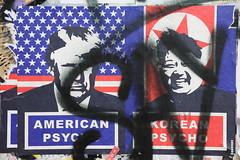 Psychopaths (Chuck Diesel) Tags: streetart bricklane london screenprint donaldtrump kimjongun nuclearweapons doomsdayclock