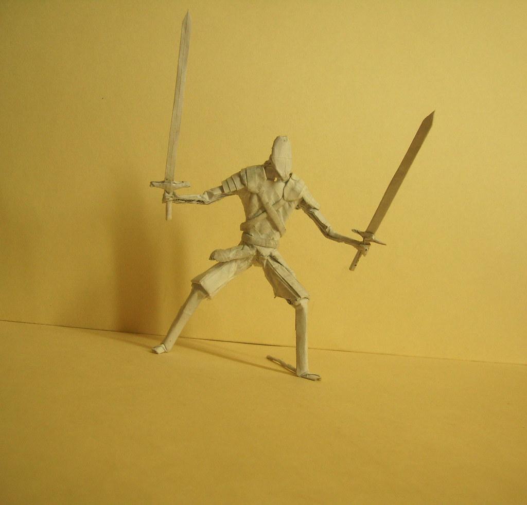 Ser Arthur Dayne Origami Marcos Tags Kirigami Artwork Human Figures Warrior