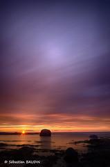 Coucher de soleil québécois (Seb BAUDIN) Tags: d7000 québec canada coucher de soleil ciel mer couleur rocher pose longue filtre lee nd1000 tokina 1224 big stpper hdr