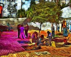 Artisans working (♣Cleide@.♣) Tags: © ♣cleide♣ brazil 2017 ps6 photo art digital texture urbanview square artisans artdigital exotic netartii atree sotn