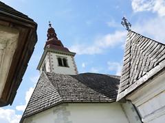 Church on our way too Lake Bohinj
