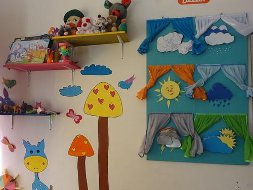 La salle de jeux pour l'éveil des élèves, tout est fabriqué maison !