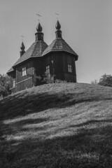 Kaniv (serhiy.sereda) Tags: wooden church bw monochrome pentax mx 4028 manualfocus vintage film ilford panf rodinal kaniv ukraine