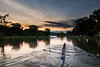 Evening Practice on Fall Creek, Ithaca (agladshtein) Tags: 2017 cny centralnewyork fingerlakes ithaca ny newyork sonyrx100m5 tompkinscounty fall cayugalake colors sunset clouds