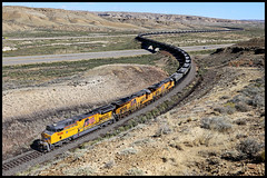 UP 7026 (golden_state_rails) Tags: up union pacific coal c4460ac convertible jim bridger point rocks wy wyoming ge overland route