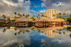 Grand Wailea, Maui (PIERRE LECLERC PHOTO) Tags: maui hawaii hawaiian grandwailea hotel resort tropical reflection landscape thatchroof palmtrees vacation travel destination places luxury pierreleclercphotography canon5dsr