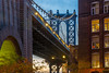 DUMBO Twilight (street level) Tags: brooklyn manhattanbridge dumbo architecture streetphotography twilight newyorkcity gothamist nyc
