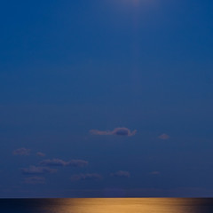 Moonshine (ronperry811) Tags: longexposure blue bluehour water reflections seascape light 11 square clouds minimalism abstract negative space