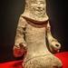 Figurine of a kneeling charioteer from the Earthenware Warrior Pit 1 Shizi Mountain Xuzhou Jiangsu China Western Han period 2nd century BCE
