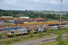 Toton Class 60s, 60067, 60032, 60060 & 60086. Three of these four will still be sitting here, after 20 of their classmates are moved to Wabtec, some for refurbishment. Toton New Bank 01 07 2017 (pnb511) Tags: toton diesel depot tmd ews class60 dbschenker class66 class08 dbc dbcargo train trains loco locos locomotive locomotives track engines trucks diesels class37 test