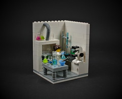 07 - Scientist (CeciΙie) Tags: moc lego cmf minifig vignette collectible scientist lab microscope equipment