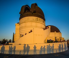 Griffith Observatory Shadows ((Jessica)) Tags: griffithpark losangeles goldenhour griffithobservatory shadows california silhouettes architecture