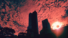 Sky on Fire solar eclipse (VIProduction) Tags: solar eclipse manhattan nyc newyorkcity newyork ny nycstreets nycskyline fire sky skyline skylovers skylover skies clouds cloud cloudart cloudporn cloudy red noiretblanc new beautiful buildings versatileimage view visual canon canon6d canonphotos colorful colors art architecture sunset silhouette flickr graphic graphicdesign heavenly heaven skyscrapper love lights photography photographer pointofview photo outdoors outside inspire inspiring iloveny eyes sun sunshine moon street streets city summer solareclipse2017 event sol fantasy eclipse2017