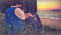 *It is almost impossible to watch a sunset and not dream*❤ (Ⓐⓝⓖⓔⓛ (Angeleyes Roxley)) Tags: june jonathan piggu sunset sweet love couple sl secondlife avatar