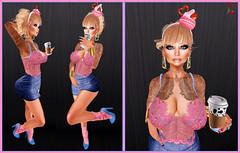 [CPS] Strawberry Latte (Skylah Kesslinger) Tags: thearcade anybody yummy doux pinkhustlerpinklion valekoer kitja reign shinystuffs mutresse slnewreleases strawberrylatte secondlife slblogger virtualgirls estilovirtual catwameshhead posemaniacs tattoomania