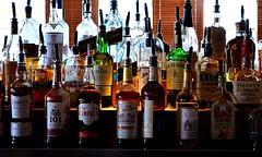 Bar Offerings (pjpink) Tags: splitsville bowling luxurylanes fredericksburg virginia june 2017 summer pjpink 2catswithcameras bar liquor bottles whiskey