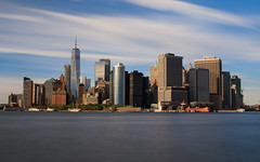 Lower Manhattan Skyline (Jemlnlx) Tags: canon eos 5d mark iv 5d4 5div 1635mm f4 l is usm wide angle zoom lens new york city ny nyc governors island ferry boat downtown lower manhattan skyline long exposure tiffen bw graduated neutral density filter filters stacked