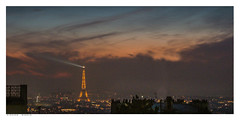 Nightfall. Paris viewed from Montmartre. (Richard Murrin Art) Tags: nightfall paris viewed from montmartre richard murrin art photography canon 5d landscape travel images building cool