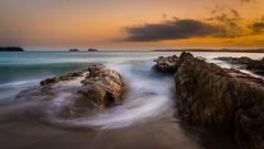 Maloney's Beach, NSW (Jerry Skinner) Tags: rocks slow sky orange smooth ocean sea beacheslandscapes