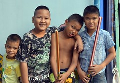 brothers with a friend (the foreign photographer - ฝรั่งถ่) Tags: feb202016nikon three brothers friend khlong lat phrao portraits bangkhen bangkok thailand nikon d3200