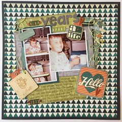 Nine Years Apart (girl231t) Tags: layout paper 12x12layout scrapbook 2017