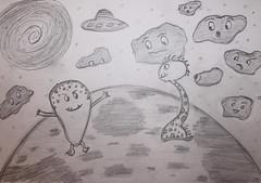 Space stories (Argyro Poursanidou) Tags: comic cartoon sketch drawing alien space
